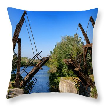 Throw Pillow featuring the photograph Van Gogh Bridge In Arles by Olivier Le Queinec