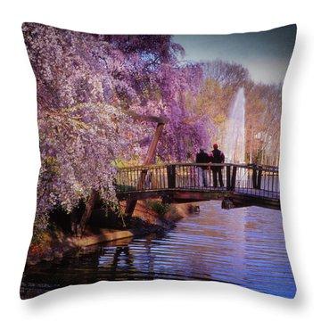 Van Gogh Bridge - Reston, Virginia Throw Pillow