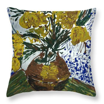 Throw Pillow featuring the painting Van Gogh by J R Seymour
