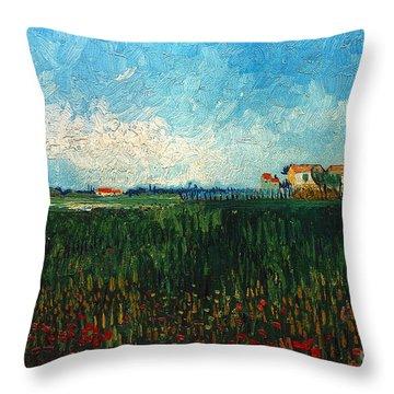 Van Gogh: Landscape, 1888 Throw Pillow by Granger