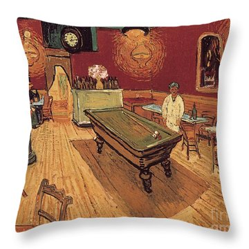 Van Gogh Night Cafe 1888 Throw Pillow by Granger