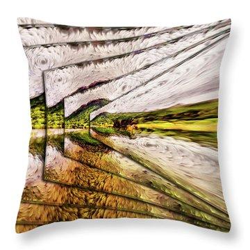 Van Gogh Perspective Throw Pillow