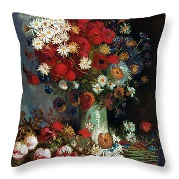 Van Gogh Still Life 1886 Throw Pillow by Granger