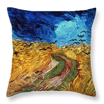 Van Gogh: Wheatfield, 1890 Throw Pillow by Granger