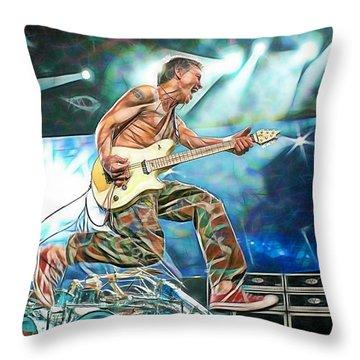 Van Halen Eddie Van Halen Collection Throw Pillow by Marvin Blaine