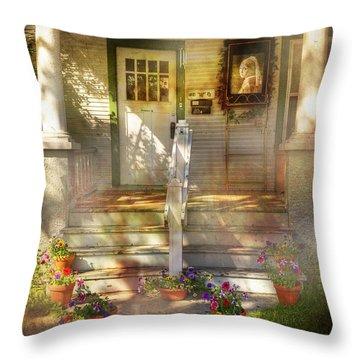 Van Meer Door Throw Pillow