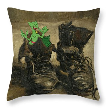 Throw Pillow featuring the digital art Van Septilegogh by Greg Sharpe