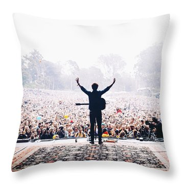 Concert Photographs Throw Pillows
