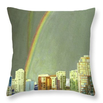 Vancouver Bc Throw Pillow by Lynne Reichhart