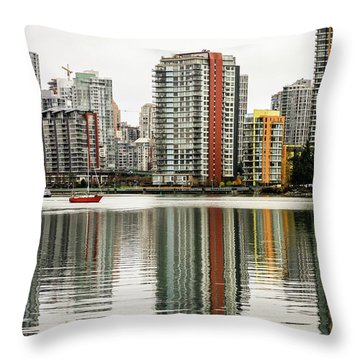 Vancouver Bc Sky Line Throw Pillow