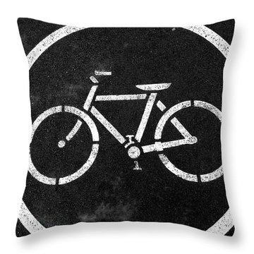 Vancouver Bike Lane- Art By Linda Woods Throw Pillow