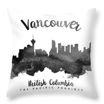 Vancouver British Columbia Skyline 18 Throw Pillow