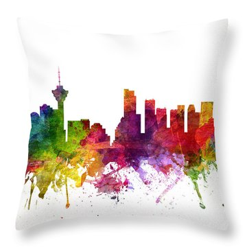 Vancouver Canada Cityscape 06 Throw Pillow