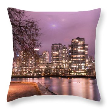 Throw Pillow featuring the photograph Vancouver, Canada by Juli Scalzi