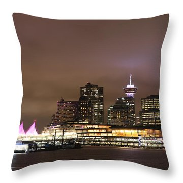 Vancouver Canada Place Throw Pillow