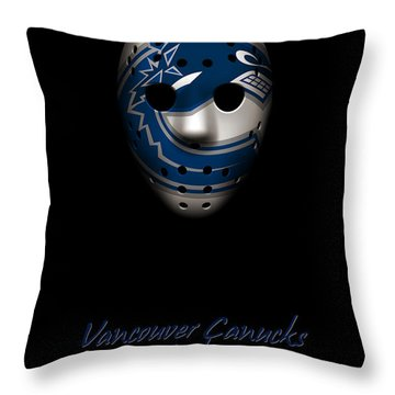 Vancouver Canucks Established Throw Pillow