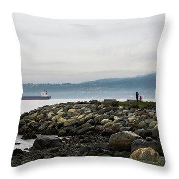 Vancouver English Bay Throw Pillow
