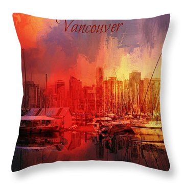 Vancouver Throw Pillow by Eva Lechner