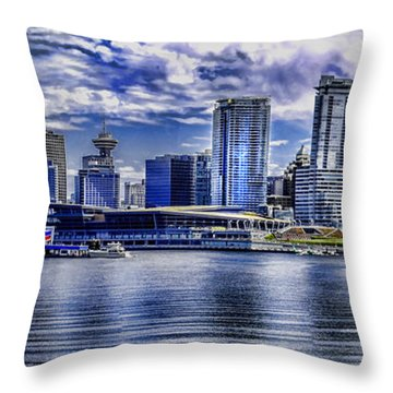 Vancouver Throw Pillow by Gordon Engebretson