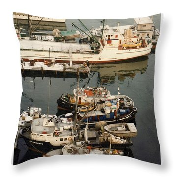 Throw Pillow featuring the photograph Vancouver Harbor Fishin Fleet by Jack Pumphrey