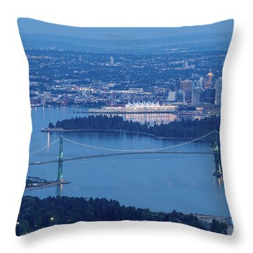 Vancouver Harbour Late Afternoon Throw Pillow