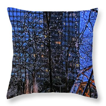 Vancouver - Magic Of Light And Water No 1 Throw Pillow by Ben and Raisa Gertsberg