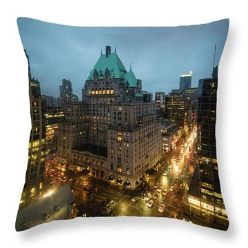 Vancouver Nocturne Throw Pillow