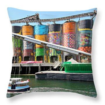 Vancouver Silo Art   Throw Pillow