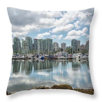 Vancouver Skyline Throw Pillow by Patricia Hofmeester