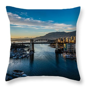 Vancouver Sunset Throw Pillow