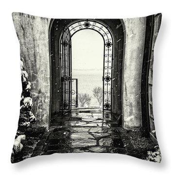 Vanderbilt Doorway In Centerport Throw Pillow