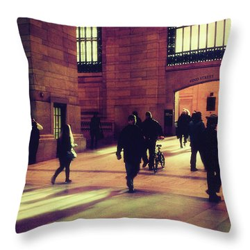 Throw Pillow featuring the photograph Grand Central Rush by Jessica Jenney
