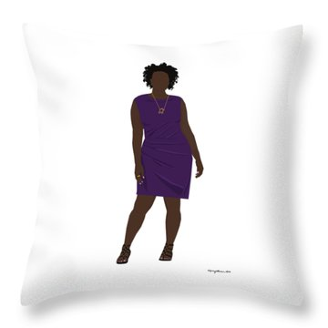 Throw Pillow featuring the digital art Vanessa by Nancy Levan