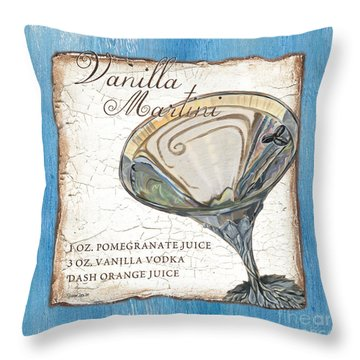 Vanilla Martini Throw Pillow