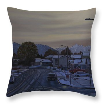 Vanilla Sky Throw Pillow by Thu Nguyen