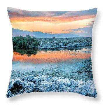 Vanilla Sunset Throw Pillow