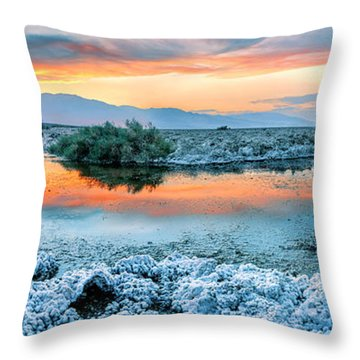 Vanilla Sunset Throw Pillow