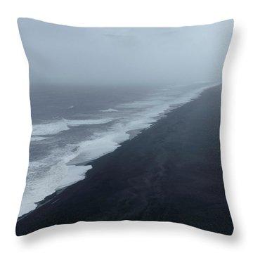 Vanishing Point - Dyrholaey, Iceland Throw Pillow