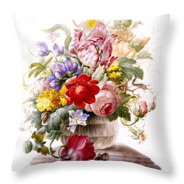 Vanitas Still Life Throw Pillow