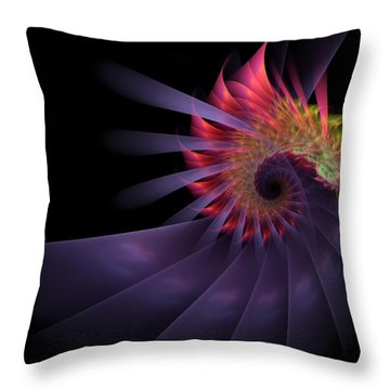 Throw Pillow featuring the digital art Vanquishing Silence by NirvanaBlues