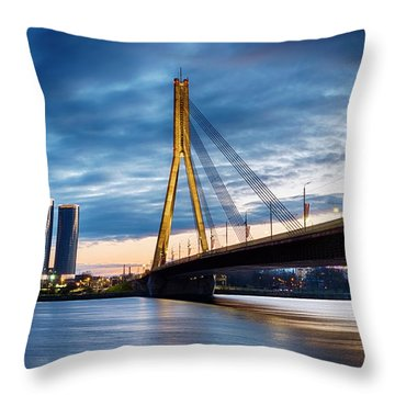 Throw Pillow featuring the photograph Vansu Tilts by Fabrizio Troiani