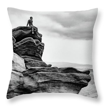 Throw Pillow featuring the photograph Vantage Point by Nick Bywater