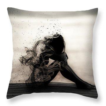Vapours Of Sadness Throw Pillow