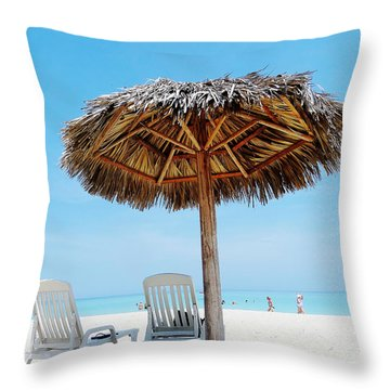 Varadero Throw Pillow by Zinvolle Art
