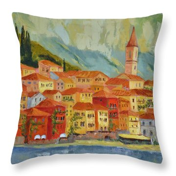 Varenna  Italy Throw Pillow by Ginger Concepcion