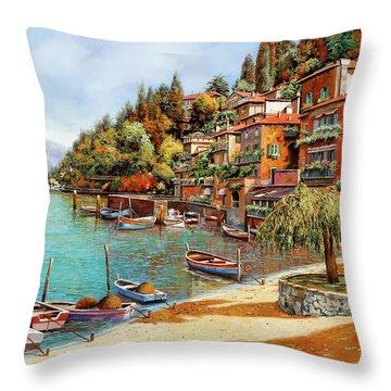 Varenna On Lake Como Throw Pillow