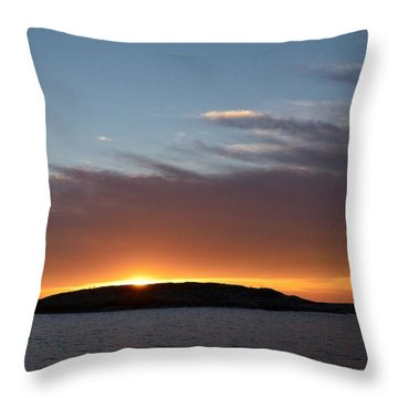 Throw Pillow featuring the photograph Variations Of Sunsets At Gulf Of Bothnia 1 by Jouko Lehto