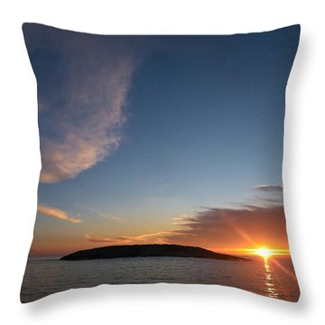 Throw Pillow featuring the photograph Variations Of Sunsets At Gulf Of Bothnia 2 by Jouko Lehto