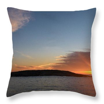 Throw Pillow featuring the photograph Variations Of Sunsets At Gulf Of Bothnia 3 by Jouko Lehto