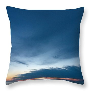 Throw Pillow featuring the photograph Variations Of Sunsets At Gulf Of Bothnia 4 by Jouko Lehto